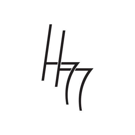 letter hh overlapping lines art logo vector Illusztráció