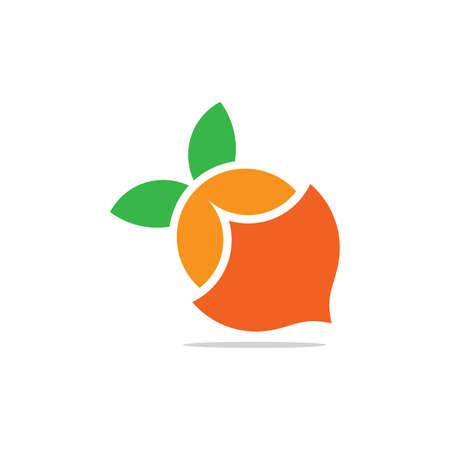 lemonade colorful geometric shadow design symbol logo vector Illusztráció