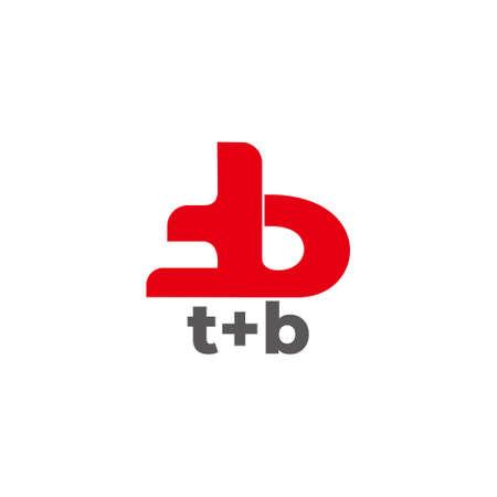 letter tb symbol motion curves simple design logo vector
