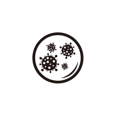 microscope lens glass virus symbol clear design vector Illustration