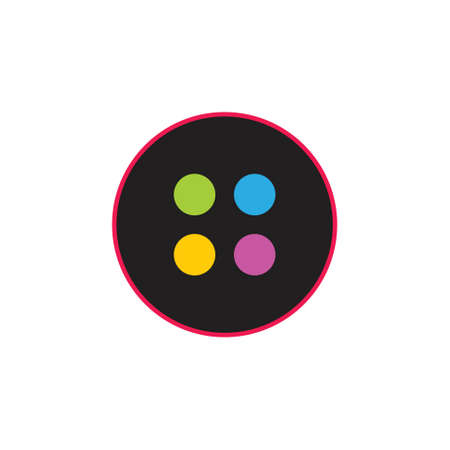 button simple geometric symbol logo vector 일러스트