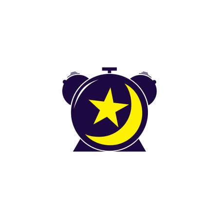 watch night time wake up logo symbol vector