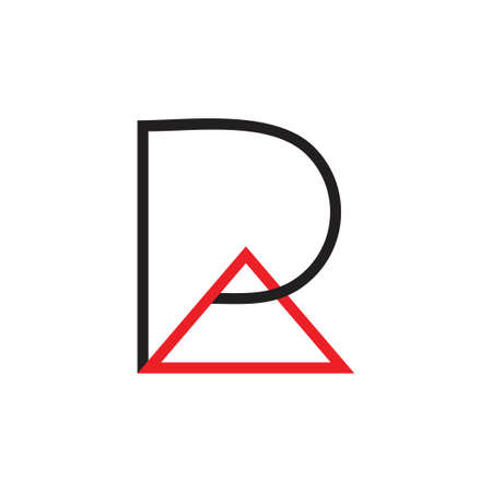 letters pa triangle line logo vector
