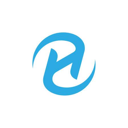 letter zh rotate motion logo vector Logó