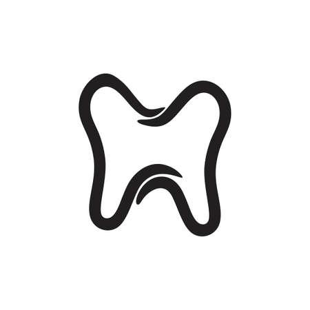 linked curves tooth symbol vector Ilustração