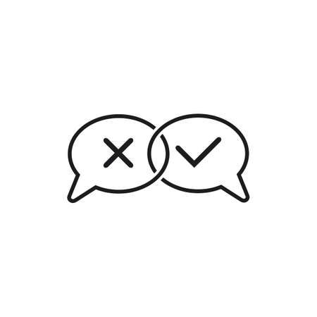 right wrong communication talk symbol vector