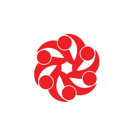 swirl curves dots rotation logo vector Ilustracja
