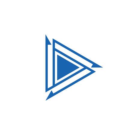 letter d triangle arrow logo vector 版權商用圖片 - 143041865