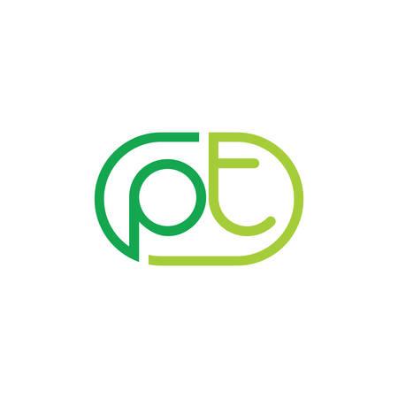 letters pt simple line geometric logo Logó