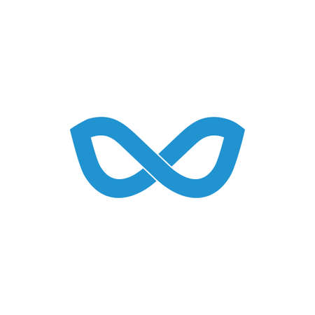 infinity line curves logo vector