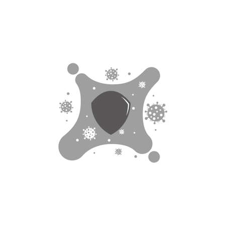 viruses protection symbol design decoration vector 일러스트