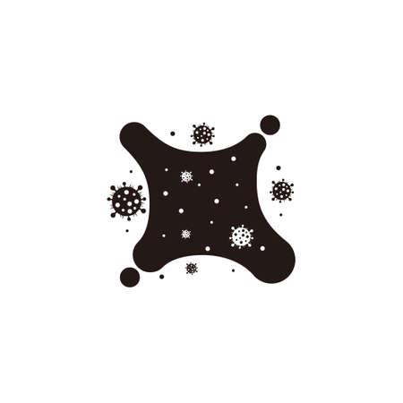 saliva with corona virus symbol decoration vector