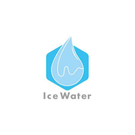 ice cube water simple geometric clear design symbol logo vector