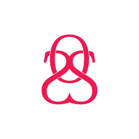 letters os linked simple logo vector