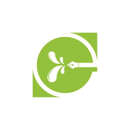 letter g negative space green logo vector Logo