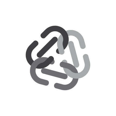 chain simple geometric design symbol vector