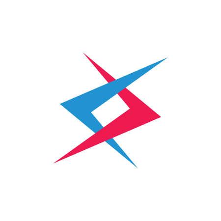 simple linked arrows colorful logo vector Logo