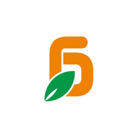 letter g simple geometric leaf colorful symbol logo vector Logó