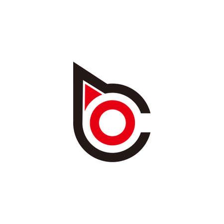 letter bc circle geometric arrow logo vector