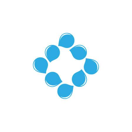 square fresh water symbol logo vector