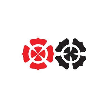 simple swirl curves geometric logo vector set