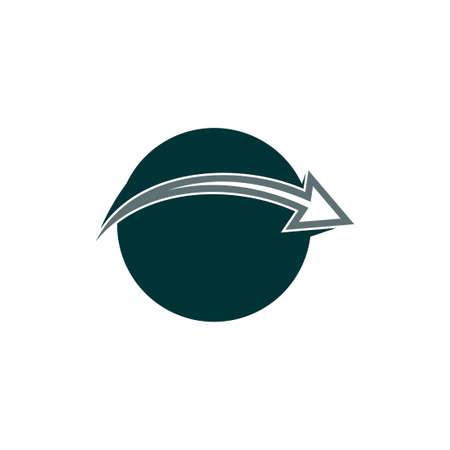 motion geometric arrow global logo vector