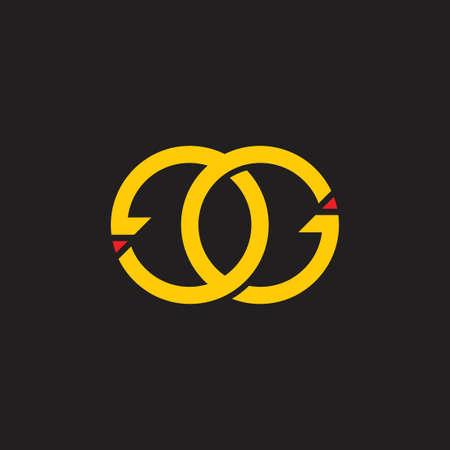 letters ge circle arrow monogram logo vector Ilustrace