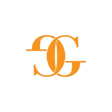 letter eg linked doodle design logo vector