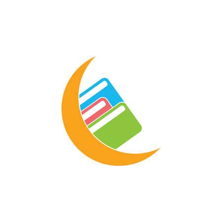 moon book learning education logo vector