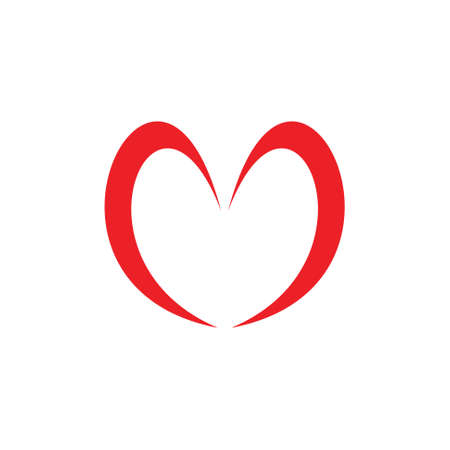 simple love shape symbol vector