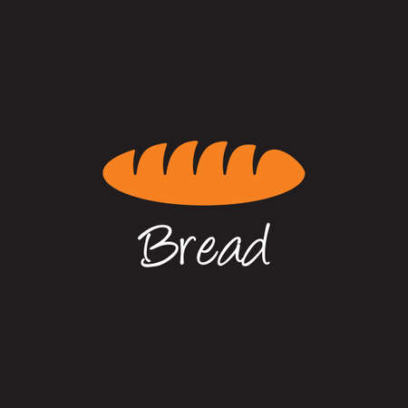 bread simple geometric logo vector