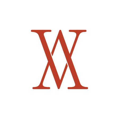 simple letter av linked 3d logo vector Ilustrace