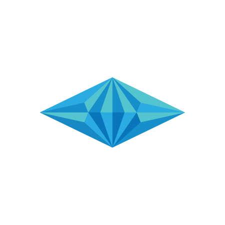 3d blue diamond symbol logo vector