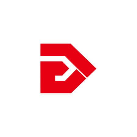 abstract letter e arrow simple geometric logo vector