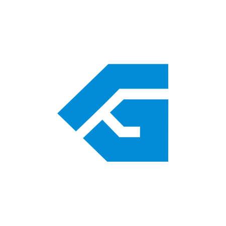 abstract letter g arrow simple geometric logo vector