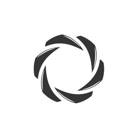 vector of circle swirl geometric arrow logo Ilustrace