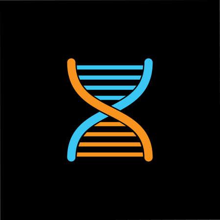 simple helix dna geometric line logo vector