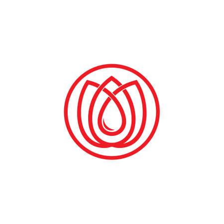 circle infinity beauty flower linear geometric logo vector Ilustrace