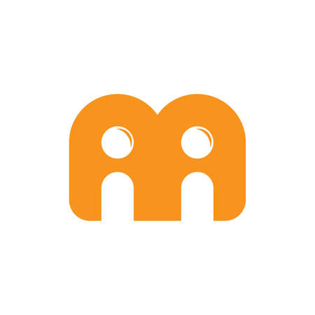 letter m people freinship abstarct logo vector Иллюстрация