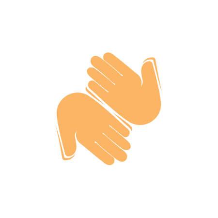 hi hello hand symbol decoration vector