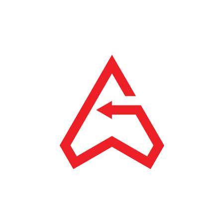 letter g triangle arrows geometric line logo vector Illusztráció