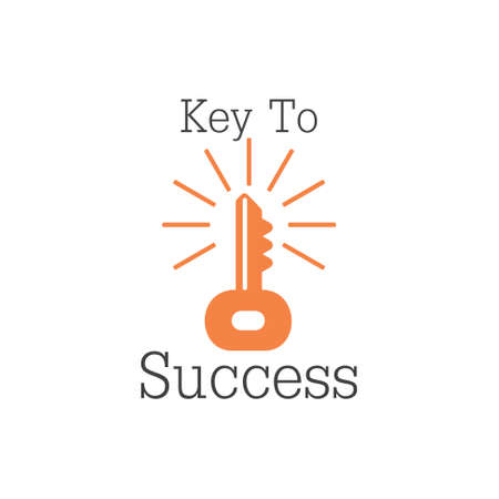 shine key to success vintage decoration vector