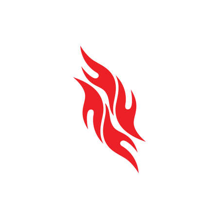 abstract flame red fire symbol vector Illustration