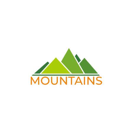 text mountain gradient geometric triangle design symbol vector
