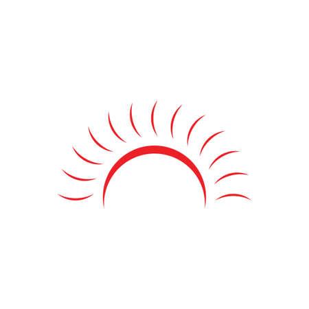 simple sun light swirl logo vector