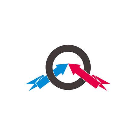 circle target arrows colorful design symbol vector