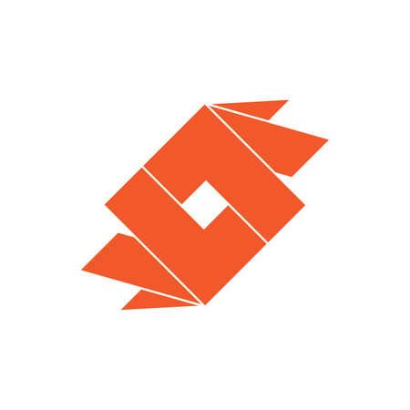 letter ll 3d square geometric logo vector Logó