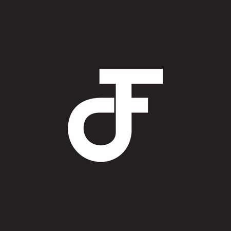 letter df circle motion process symbol logo vector Ilustração