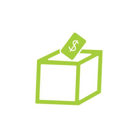 money insert box symbol decoration vector Vektorové ilustrace
