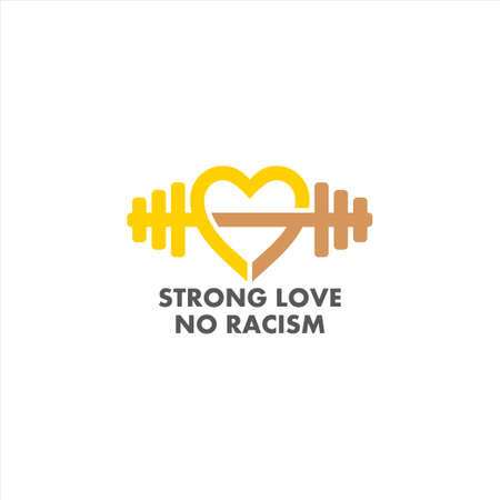 strong love connection no racism symbol decoration vector Ilustrace